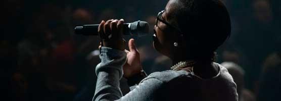public speaking and singing